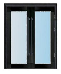 黑钛不锈钢乙级玻璃防火