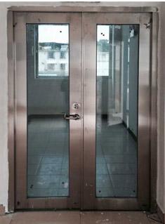 不锈钢楼梯口防火玻璃门