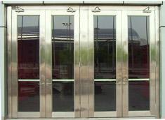 不锈钢双开防火玻璃门